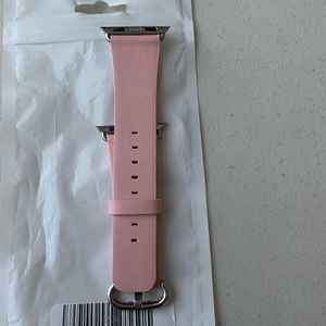 iWatch Series 1 pink leather band